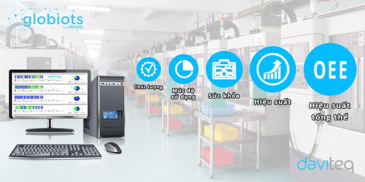 Giải pháp IoT Globiots giám sát máy công cụ