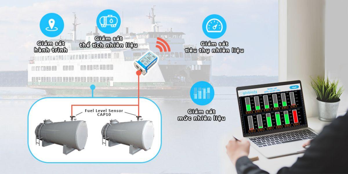 Ứng dụng IoT Globiots để quản lý nhiên liệu phà