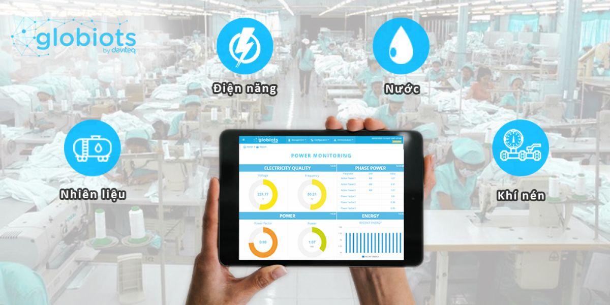 Globiots EMS - Giải pháp quản lý năng lượng nhà máy may mặc